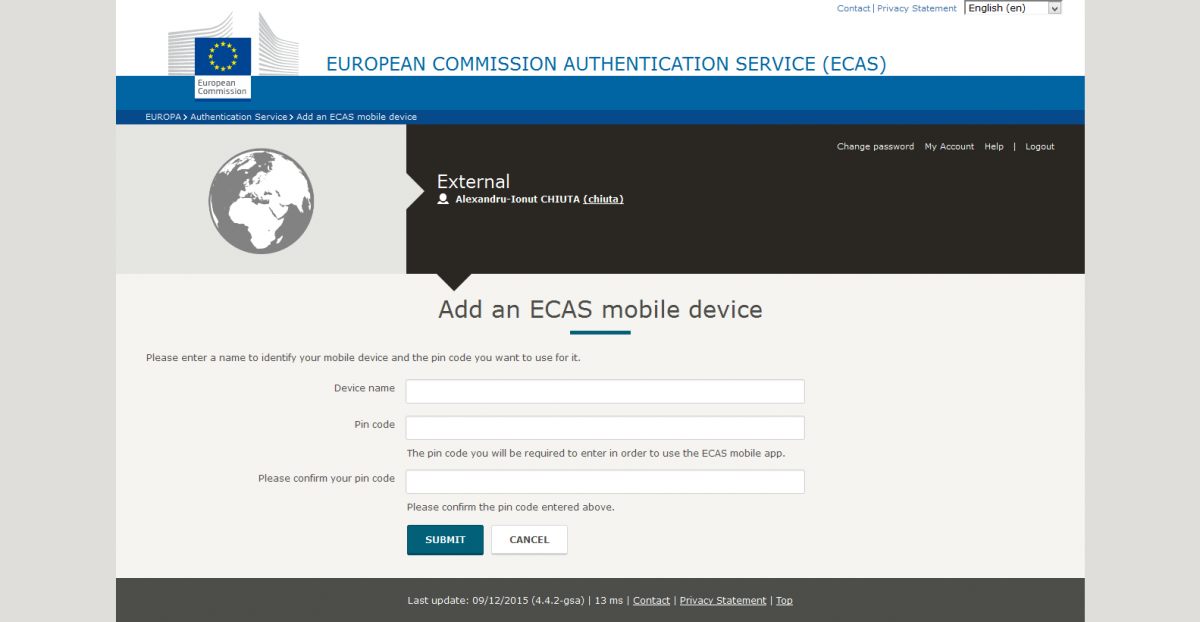my account manage my ecas mobile app devices add an ecas mobile device
